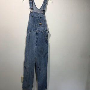 Vintage OshKosh Denim Overalls Sz 28 X 29